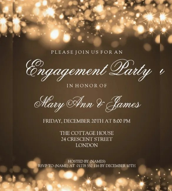 free printable engagement party invitations templates | resume ...