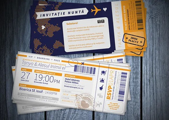 flight ticket wedding invitation template - Minimfagency