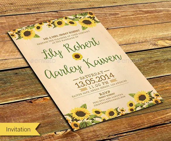 wedding invite template word