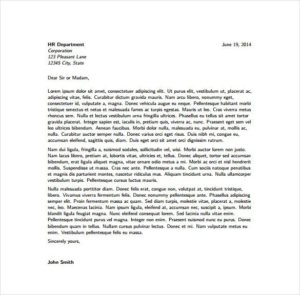 6+ Latex Cover Letter Templates \u2013 Free Sample, Example, Format