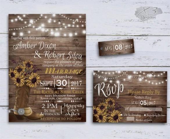 21+ Sunflower Wedding Invitation Templates \u2013 Free Sample, Example