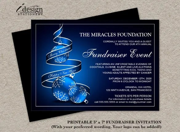 15+ Fundraising Invitation Templates - Word, PSD, AI, EPS Free