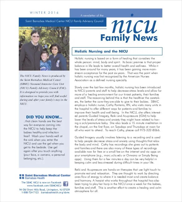 Family Newsletter Template \u2013 10+ Free PSD, PDF Documents Download - Medical Newsletter Templates Free