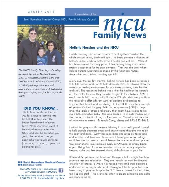 Family Newsletter Template \u2013 10+ Free PSD, PDF Documents Download - Medical Newsletter Templates Free