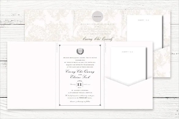 12+ Tri Fold Wedding Invitation Templates - PSD Free  Premium