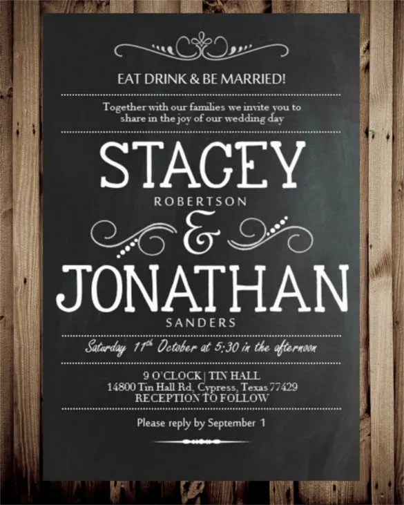 chalkboard invitations free - Ozilalmanoof - chalk board invitation template