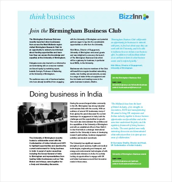 8+ Business Newsletter Templates - Free PSD, EPS, Indesign, PDF