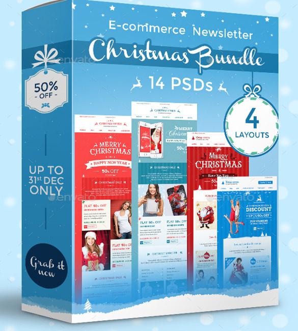 Christmas Newsletter Template u2013 8 + PSD, PDF Formats Download - news letter formats