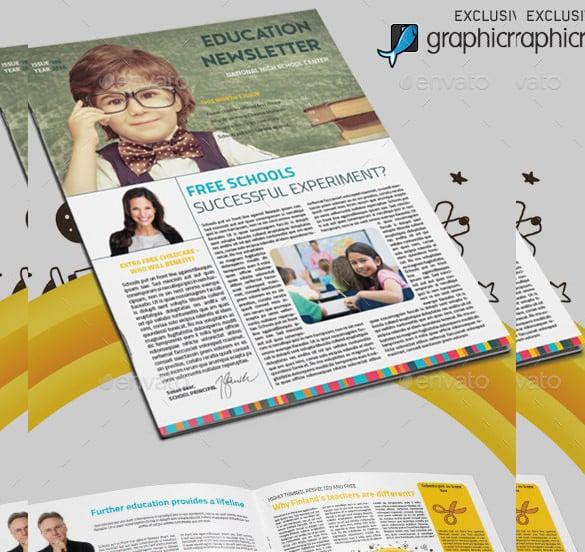 Teacher Newsletter Template \u2013 8+ PSD, PDF Formats Download Free