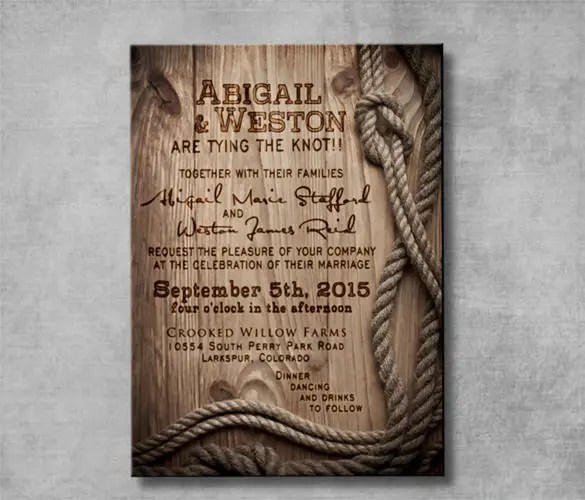 30+ Western Wedding Invitation Templates \u2013 Free Sample, Example - free customizable invitation templates