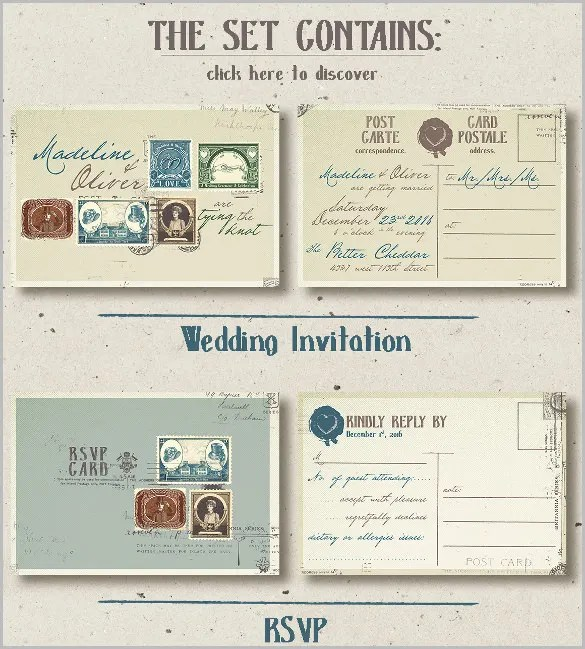 Wedding Postcard Template \u2013 21+ Free PSD, Vector EPS, AI, Format