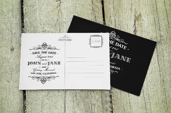 wedding postcard templates - Towerssconstruction