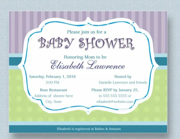 39+ Baby Shower Invitation Templates - PSD, Vector EPS, AI, Word