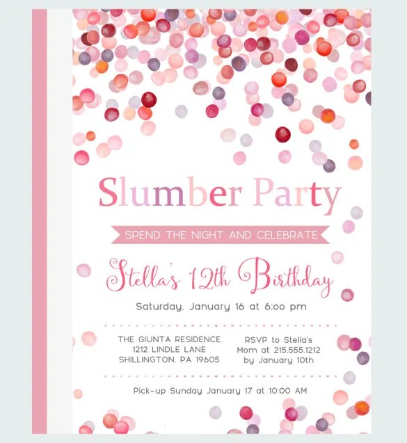 20+ Party Invitation Templates \u2013 Free Sample, Example, Format