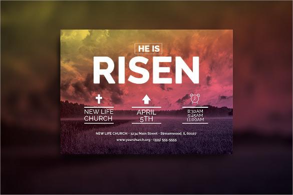Church Postcard Template \u2013 22+ Free PSD, Vector EPS, AI, Format