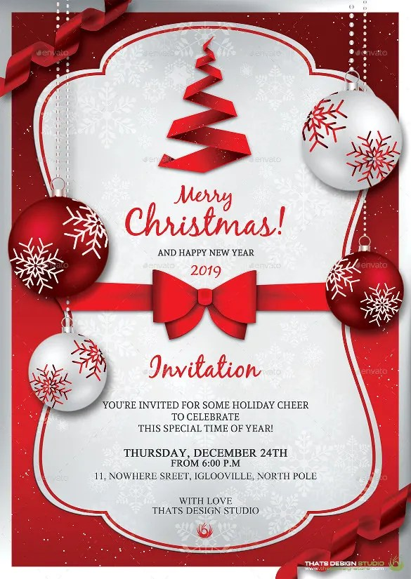 christmas invitations free download templates - Trisamoorddiner