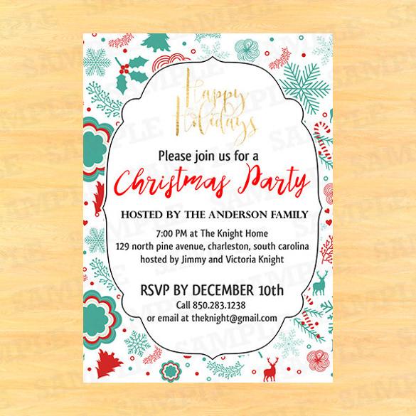 30+ Christmas Invitation Templates - Free Sample, Example, Format