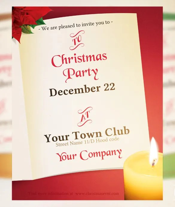 21+ Christmas Invitation Templates \u2013 Free Sample, Example, Format