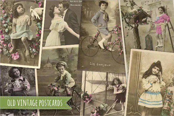 Old Postcard Template \u2013 15+ Free PSD, Vector EPS, AI, Format