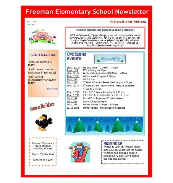 10+ Preschool Newsletter Templates \u2013 Free Sample, Example, Format