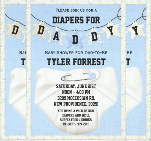 11+ Diaper Invitation Templates u2013 Free Sample, Example, Format - baby shower invite template free