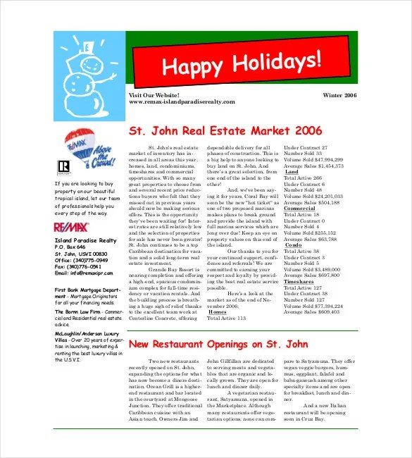 19+ Christmas Newsletter Templates - PSD Free  Premium Templates