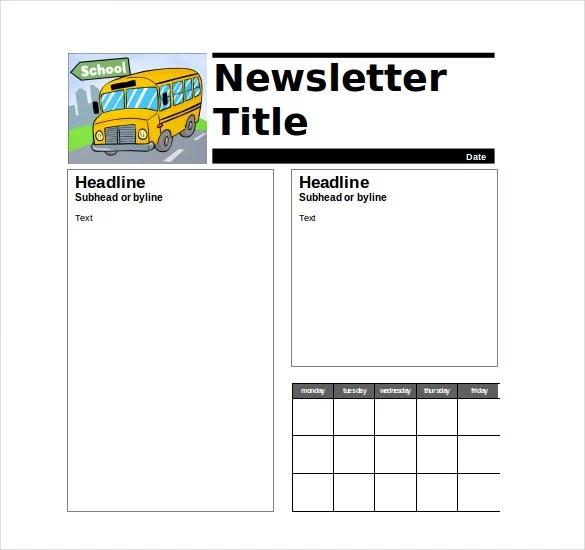 √ 9+ Teacher Newsletter Templates Free Sample, Example