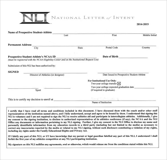 7+ National Letter Of Intent Templates - Free Sample, Example Format
