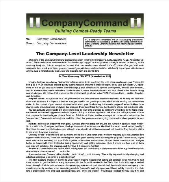 11+ Company Newsletter Templates - Free Sample, Example, Format