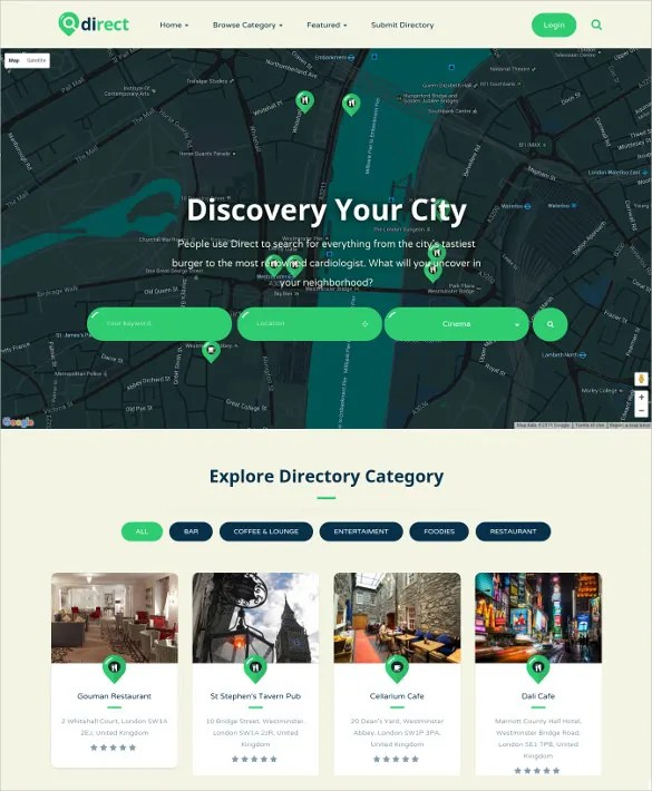 17+ Directory  Listing Bootstrap Themes  Templates Free - neighborhood website templates