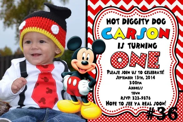 31+ Mickey Mouse Invitation Templates - Free Sample, Example, Format