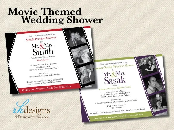 26+ Wedding Shower Invitation Templates \u2013 Free Sample, Example - bridal shower invitation templates download