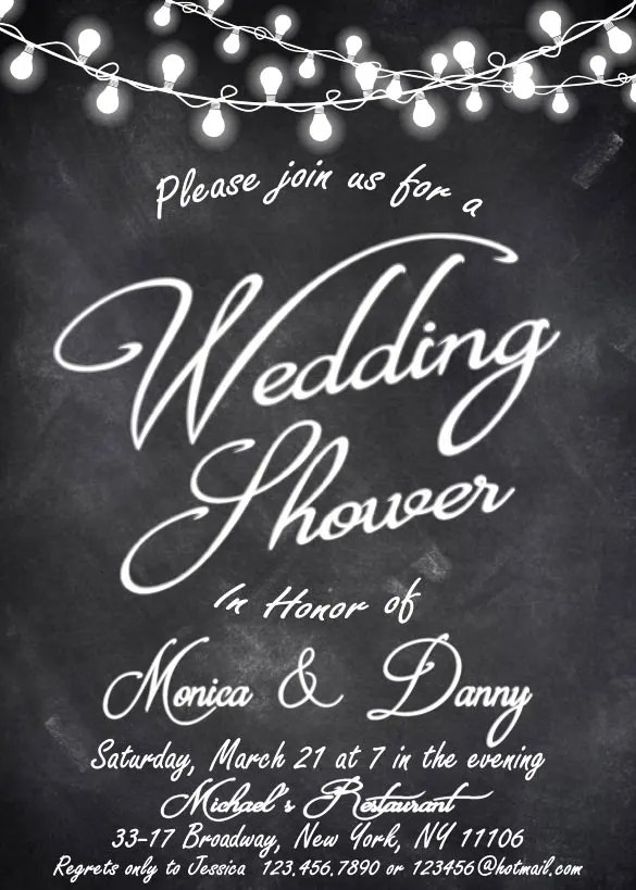 26+ Wedding Shower Invitation Templates \u2013 Free Sample, Example