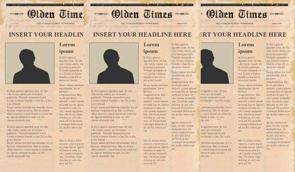 Newspaper Headline Template \u2013 13+ Free Word, PPT, PSD, EPS - Newspaper Headline Template