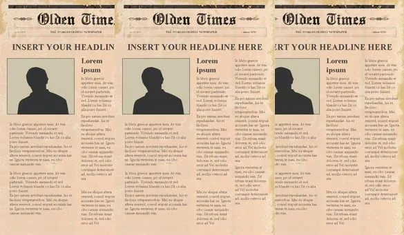 editable newspaper template powerpoint