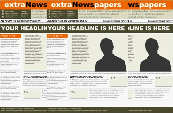 17+ Free Newspaper Templates - PSD, DOC, PDF, PPT Free  Premium