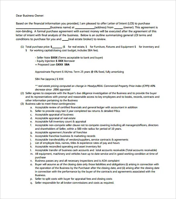 Letter Of Intent To Rent Format | Resume Pdf Download