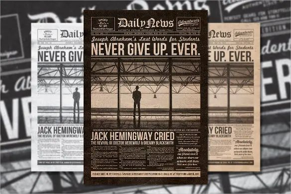 old newspaper template free
