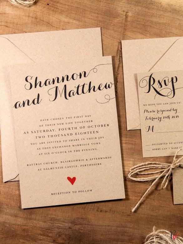 28+ Rustic Wedding Invitation Design Templates - PSD, AI Free
