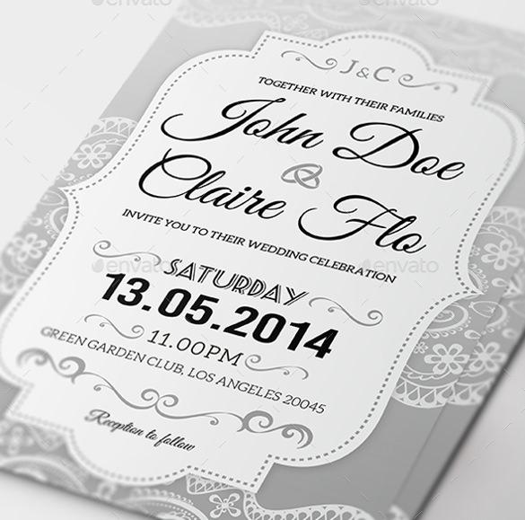 31+ Elegant Wedding Invitation Templates \u2013 Free Sample, Example