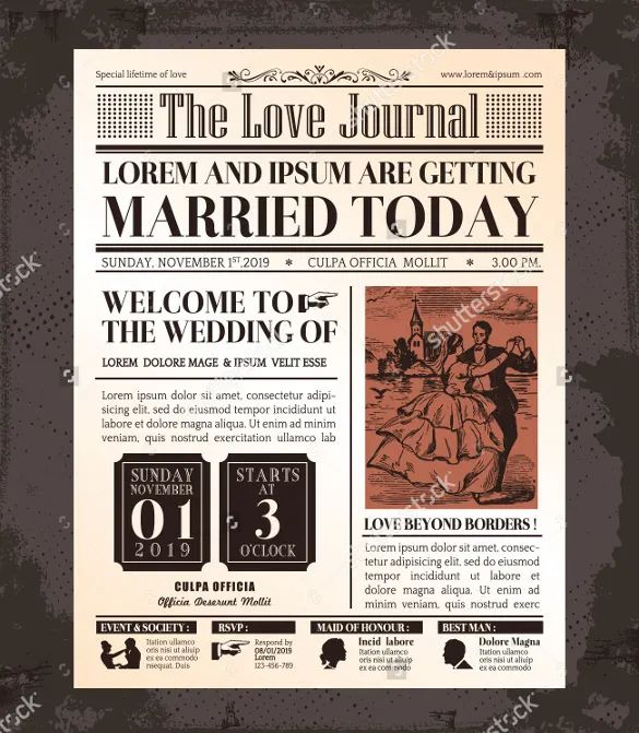 newspaper front cover template