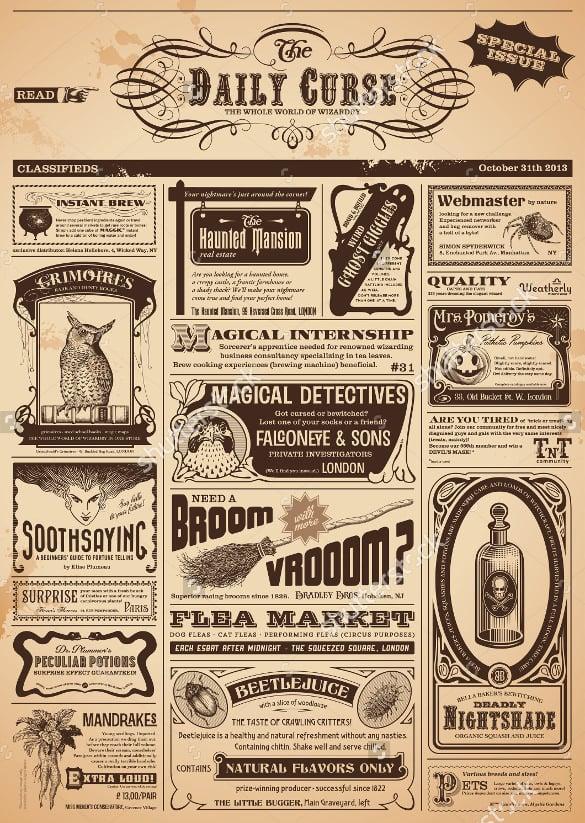 old newspaper template - Acurlunamedia - old newspaper template