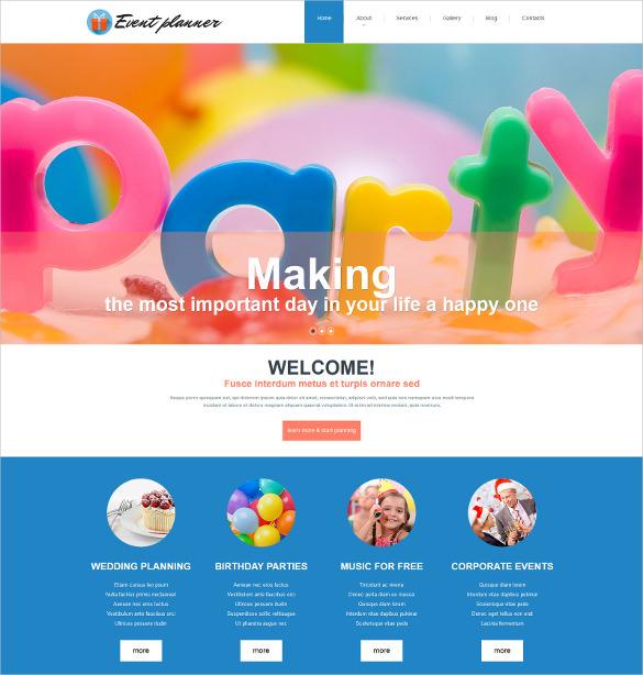 21+ Event Blog Themes \ Templates Free \ Premium Templates - birthday planner template