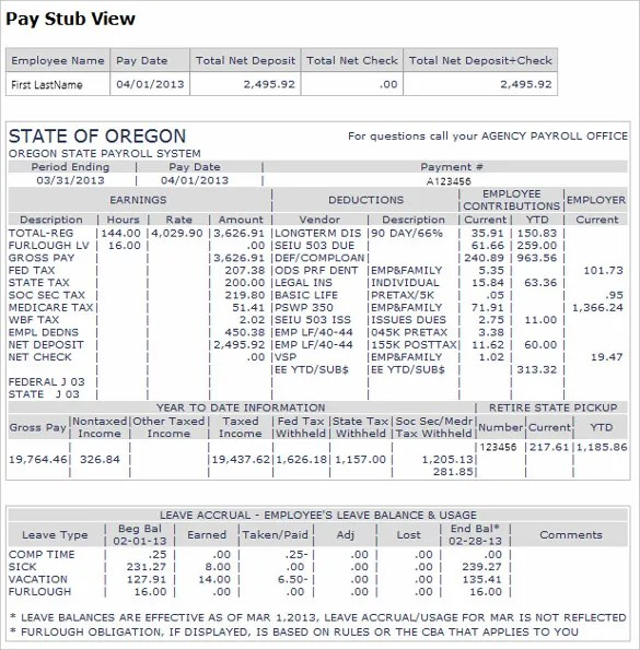 direct deposit pay stub template - Onwebioinnovate - payroll stubs templates