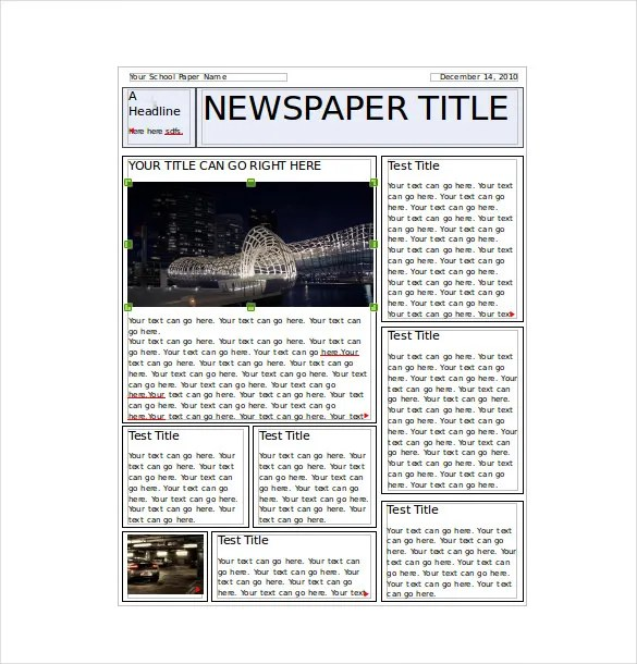 Classroom Newspaper Template - 8+ Free Word, PDF, PPT Documents