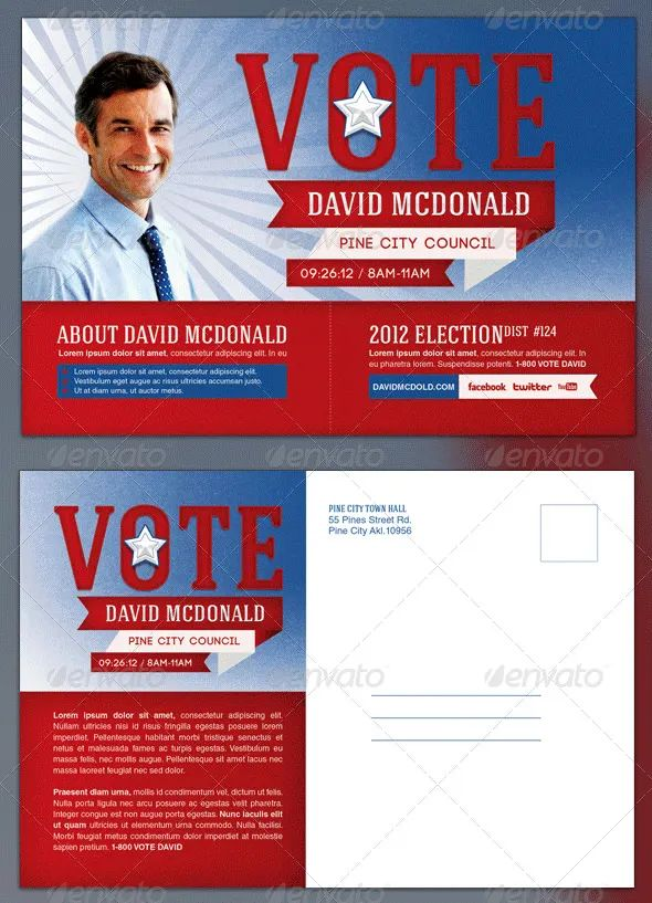 postcard examples