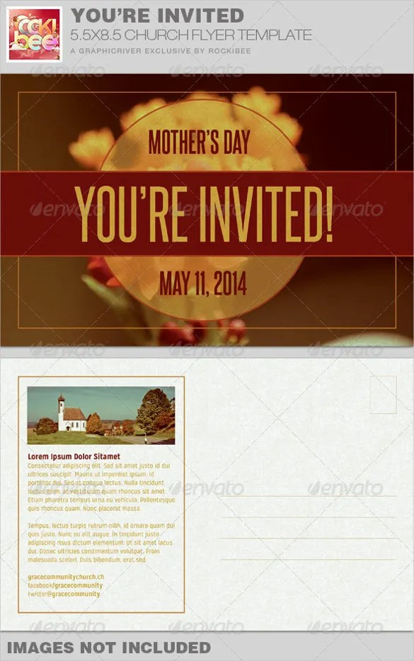 20+ Church Postcard Templates \u2013 Free Sample, Example, Format