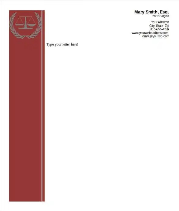 31+ Word Letterhead Templates - Free Samples, Examples, Format - microsoft word legal template
