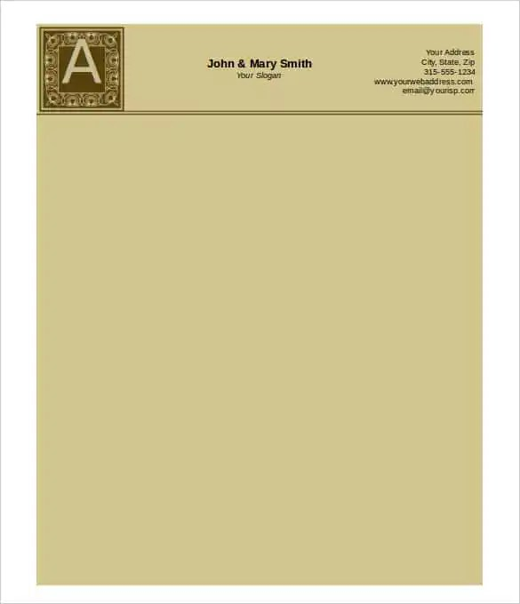 31+ Word Letterhead Templates - Free Samples, Examples, Format - letterhead format in word