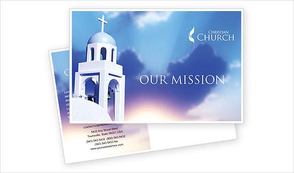 20+ Church Postcard Templates \u2013 Free Sample, Example, Format